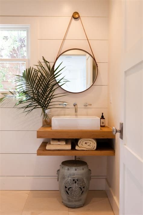bathroom mirror ideas for single sink floating sink cottage bathroom pacific family homes