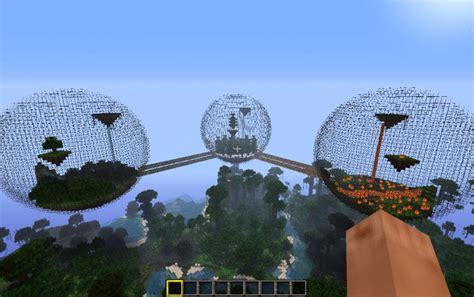 minecraft biosphere  creation