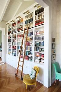 perfect wall ladder bookshelf bookshelves – Heather Zerah Interiors