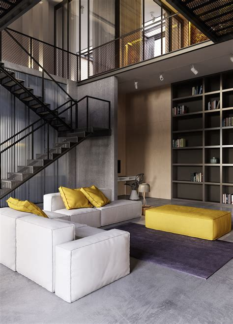 industrial interiors home decor industrial style apartment in kiev design