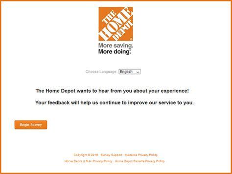 depot survey home depot customer satisfaction survey www homedepot Home