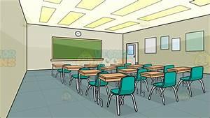 Cartoon Clipart: Inside A High School Classroom Background