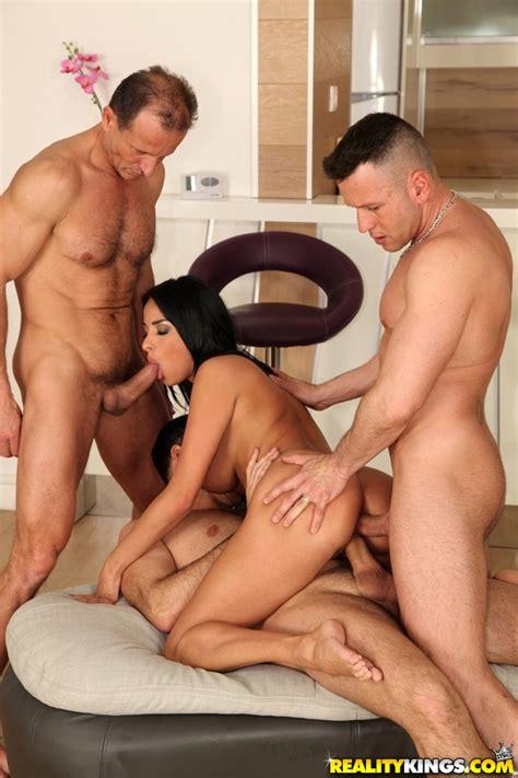 Naked Brunette Is Fucking Three Guys Photos Anissa Kate Milf Fox