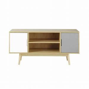 meuble tv vintage en bois l 120 cm fjord maisons du monde With meuble vintage