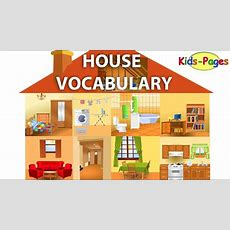 House Vocabulary, Parts Of The House, Rooms In The House, House Objects And Furniture Youtube