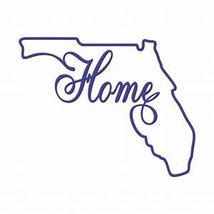 Florida Home State Svg Cuttable Designs