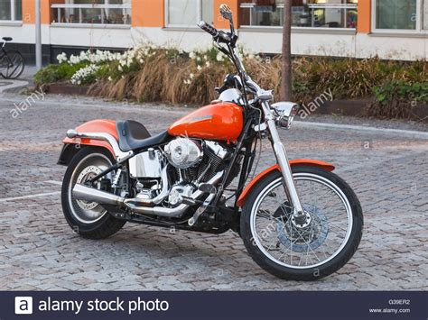 Red Chopper Harley Davidson Stock Photos & Red Chopper