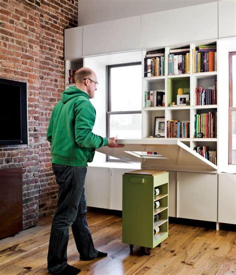 bureau astucieux space saving hideaway desks for small apartment designs