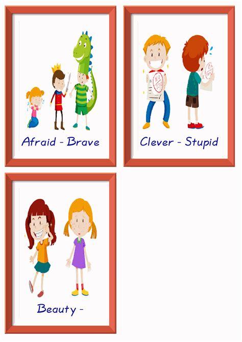 adjectives esl printable worksheets  kids  teachers