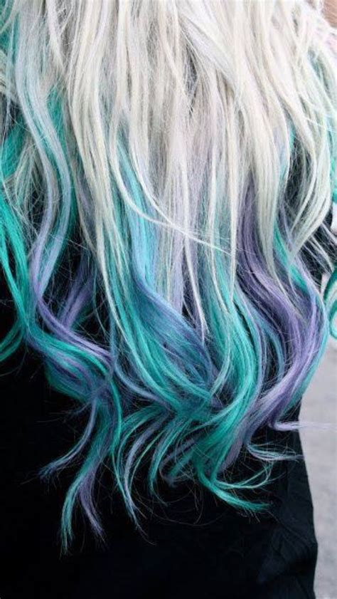 Blue Blond Purple Dyed Clipinhairextensions Hair