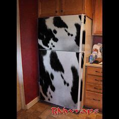 Cowhide Refrigerator by Custom Refrigerator Wrap Sticker Refrigerator Sticker