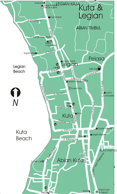 kuta map bali tourism map   people  planning