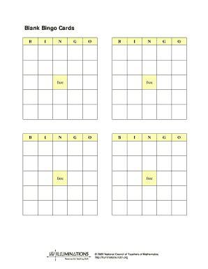 blank bingo cards printable fill  printable