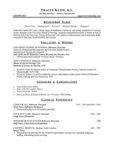 What Should Be Filled In Resume Title by Resume For Registered Rn Bsn