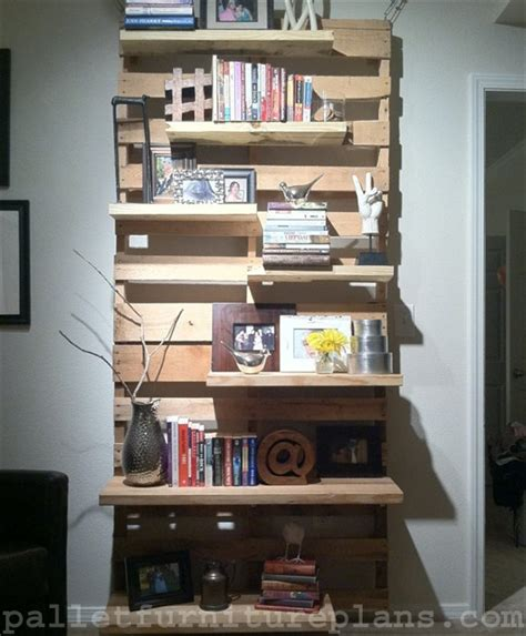 diy pallet shelves  manage   pallet