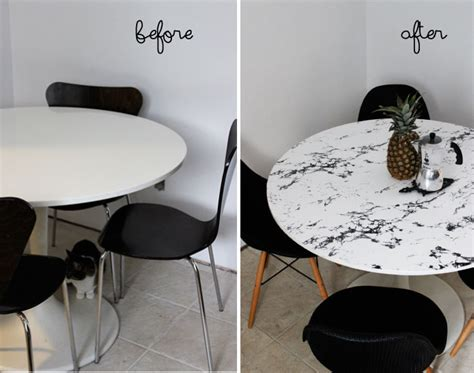 fake marble table tops diy faux marble table top poppytalk