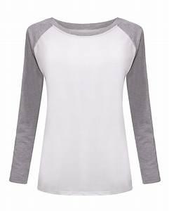 2015 Fall Korean Style Women T-shirt Sweatshirt Raglan ...