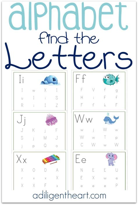 preschool search free find the letter printable kid network 330