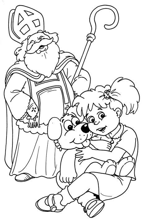 Kleurplaat Sinterklaas Komt Op Bezoke by Sinterklaas Kleurplaten Animaatjes Nl