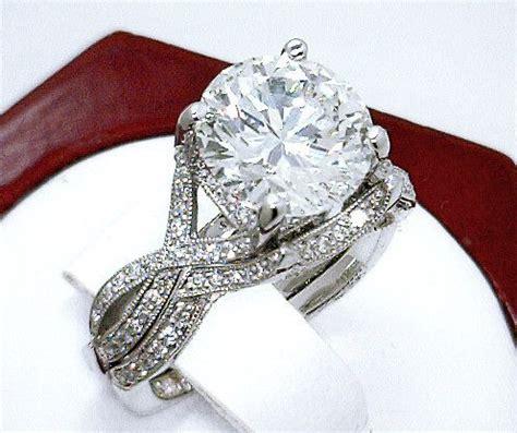 tacori 3 70ct near flawless vvs1 f platinum engagement ring wedding band platinum
