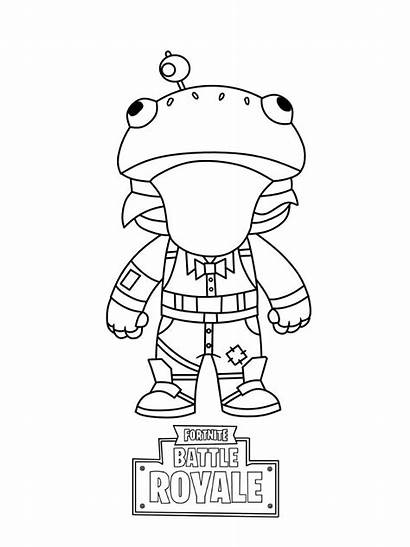 Fortnite Coloring Pages Skin Simple Mini Activity