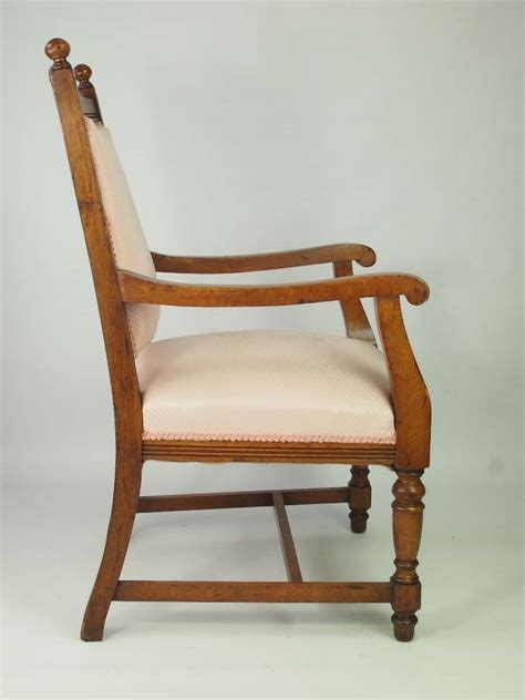 Oak Armchair by Edwardian Oak Armchair For Recovering Set 4 Available