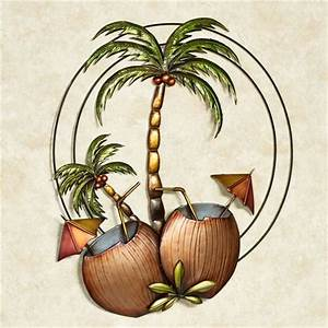 Bedroom decorative accessories palm tree metal wall art for Kitchen cabinets lowes with metal wall art palm trees