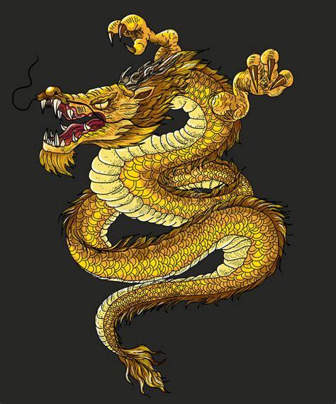 hand drawn infinity chinese dragon tattoo design stock vector illustration  monster animal