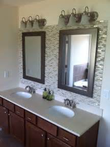 glass tile backsplash ideas bathroom glass tile backsplash in bathroom 4029