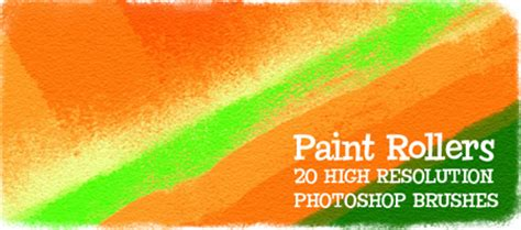 paint rollers  high resolution photoshop brushes