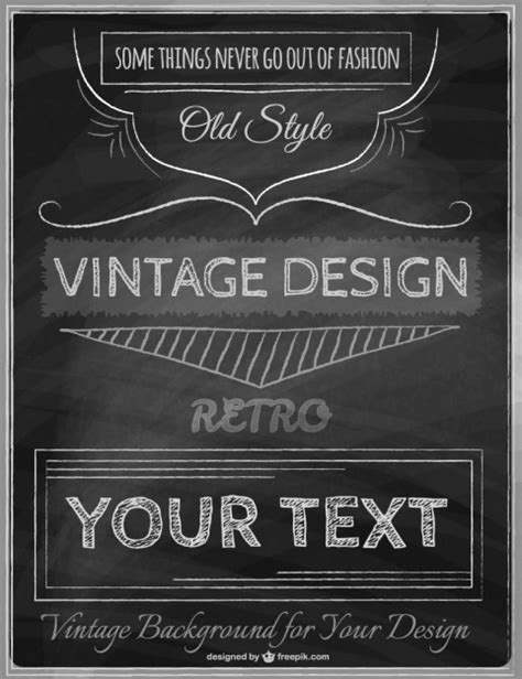 vintage poster template vector
