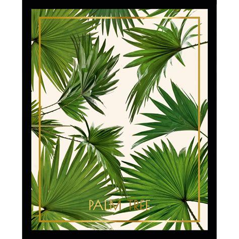 cadre deco cuisine cadre décoratif feuille tropicale en vert sur fond blanc