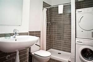 Lave Linge Petit Espace : 9 petites salles de bains avec lave linge astuces ~ Premium-room.com Idées de Décoration