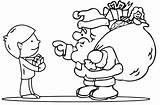 Christmas Colouring Pages Santa Coloring Children Printable Clause Claus Gifts Giving Smiling sketch template