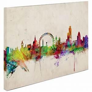michael tompsett quotlondon skylinequot canvas art 311011 With london wall art