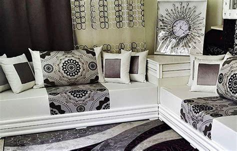 canapé blanc pas cher salon marocain blanc vente salon blanc et noir