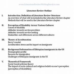 Example Literature Review Outline Examples Of A