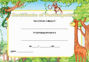 Certificate Of Participation Template Free Certificate Of Participation For Kids Template 2 Best Professional Templates