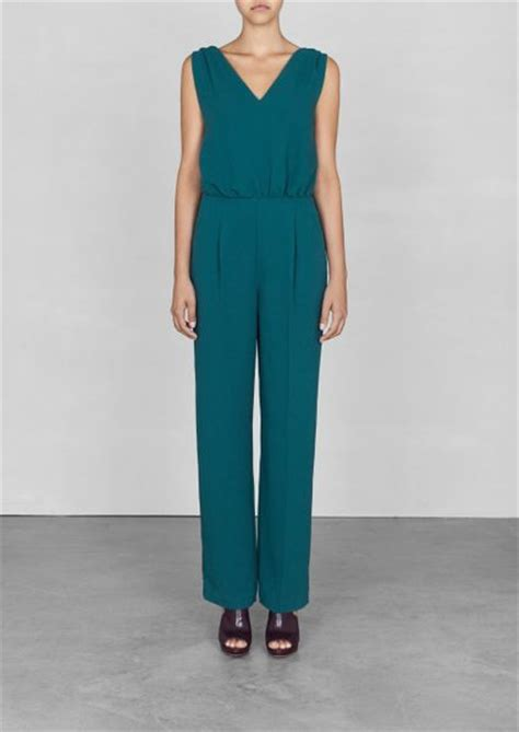 turquoise jumpsuit other stories sleeveless jumpsuit in blue turquoise lyst