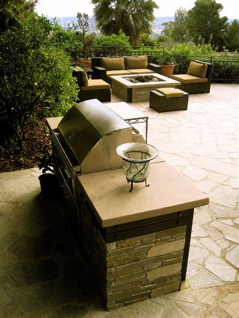 bbq pit modern patio los angeles by gilson