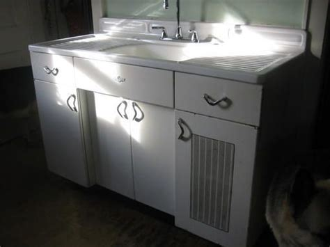 vintage metal sink cabinet youngstown metal sink base 1940 39 s vintage sink bases