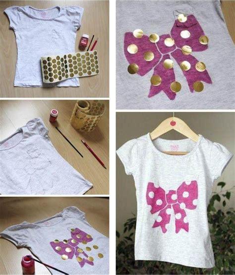 shirt selbst bemalen mit textilfarbe  kreative ideen