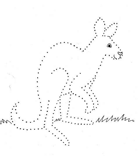 kangaroo dot drawing art starts  kids