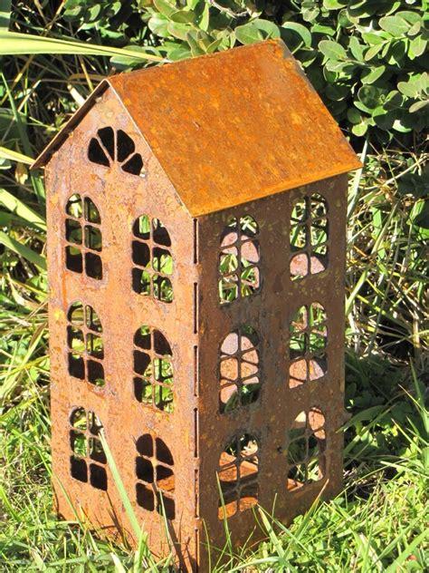 Edelrost Windlicht Haus, 3 Größen  Angels Garden Dekoshop