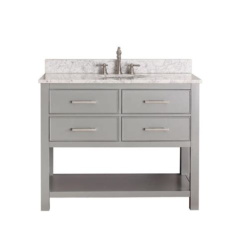 42 inch white vanity with marble top avanity 42 inch w vanity in chilled grey with
