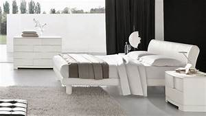 Modern white bedroom furniture sets raya furniture for Contemporary white bedroom furniture