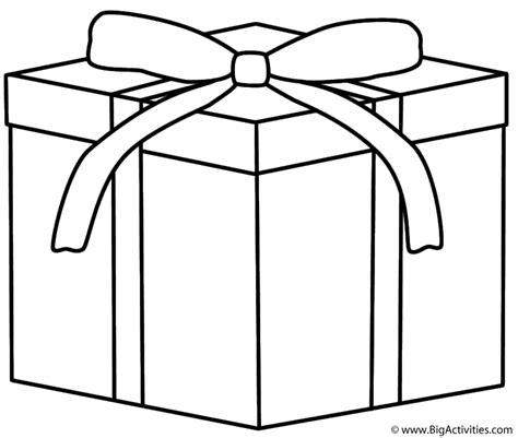 christmas gift coloring page christmas
