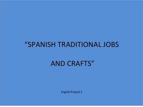 Spanish Traditional Jobs