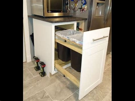 waste baskets for kitchen cabinets how to convert any kitchen cabinet into pull out 8908