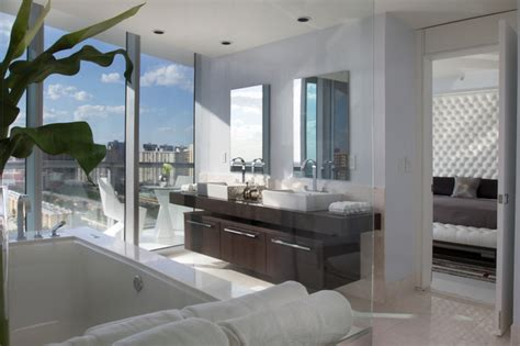 Luxe Modern Living Bathroom Accessories by Miami Interior Design Jade By Britto Charette